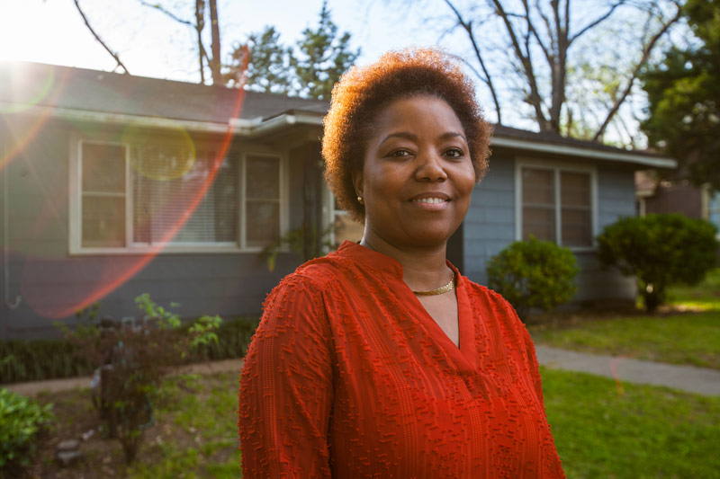 woman rebuilt her credit and was able to buy a house